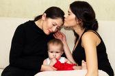 Babcia, matka i córka — Zdjęcie stockowe