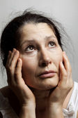 Emotion expression-woman face — Stock Photo