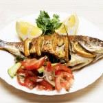 Cooked fish sea bream fish — Stock Photo #49748469