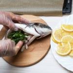 Cooked fish sea bream fish — Stock Photo #49748525
