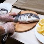 Cooked fish sea bream fish — Stock Photo #49748553
