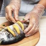 Cooked fish sea bream fish — Stock Photo #49748587