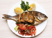 Cooked fish sea bream fish — Stok fotoğraf