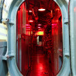 Submarine hatch leading to command center — Stock Photo