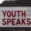 Youth speaks marquee — Stock Photo