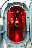 Submarine hatch leading to command center — Стоковое фото
