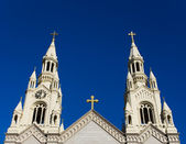 Spires of Saints Peter and Paul Church — Stock Photo