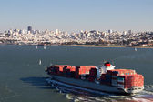 Container Ship in the San Francisco Bay — Stock Photo