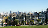 The Painted Ladies of Alamo Square in San Francisco, United-Stat — Stock Photo