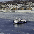 Ferry boat during winter — Stock Photo #24157857