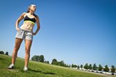 Fit, athletic woman determined to reach her goals — Stock Photo