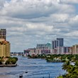 The Intercoastal waterway in Miami, Florida. — Stok fotoğraf