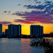 Condominium buildings in Miami, Florida. — Stock Photo