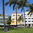 Stock Photo: MIAMI - May 9, 2013: South Beach Miami with its iconic Art Deco