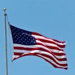 美国等国家的旗帜 — 图库照片
