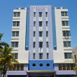 South Beach art deco building in Miami, Florida — Stok fotoğraf