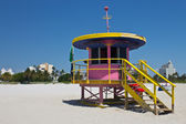 South Beach lifeguard hut in Miami, Florida — Zdjęcie stockowe