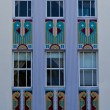Art deco building facade — Stock Photo