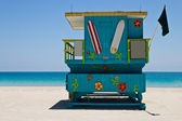 South Beach lifeguard hut in Miami, Florida — Photo