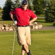 Stock Photo: Golf player before round of golf