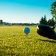 Stock Photo: Golf ball and driver - filter