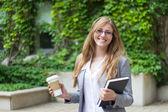 Portrait d'un élève de belle étudiante — Photo