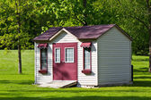 Storage shed in the backyard — Stock Photo