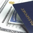 Stock Photo: Passport and documents