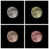 Luna en color — Foto de Stock