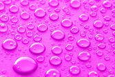 Pink water drops — Stockfoto