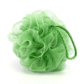 Green bath puff — Stock Photo