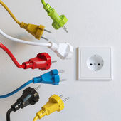 Sockets Need To Plugging In (Colorful Version) — Stock Photo
