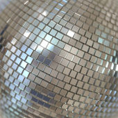 Silver Shining Disco Ball Background — Stockfoto