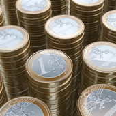 Stack Of 1 Euro Coins (Close-Up Picture) — Stock Photo