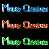 Background With Lettering Merry Christmas For Postcards Printing — Stock Photo