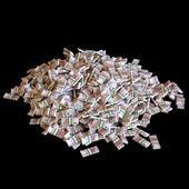 Huge Pile Of Euro Money Isolated On Black Background — Stock Photo