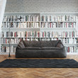 Interior of town house with books arranged in library — Stock Photo #40592123