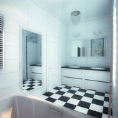 Beautiful Large Bathroom in Luxury Home — Stock Photo