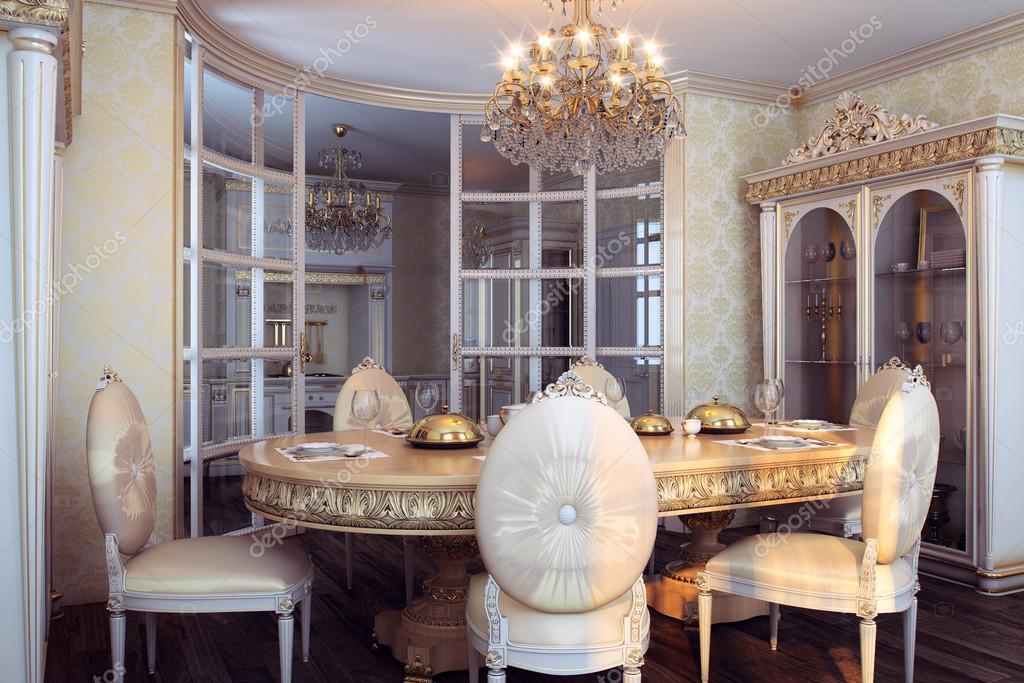 Royal Möbel in Luxus barocken Innenausstattung — Stockfoto ...