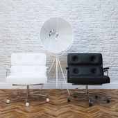 Office Interior With Two Leather Armchairs — Foto Stock