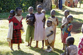 A group of small african girls — Stock Photo