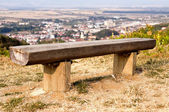 Wooden bench — Stockfoto