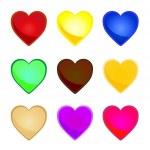 Multicolor hearts — Stock Vector