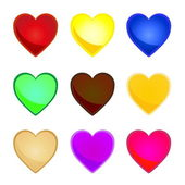 Corazones multicolor — Vector de stock