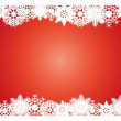 Snowflake Christmas card — Stock Vector