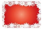Snowflake Christmas card — Stock Vector