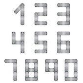 Metal numbers — Stock Vector