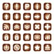 Stock Vector: Web buttons, elements or icons