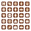 Web buttons, elements or icons — Stock Vector
