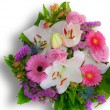 Stock Photo: Lovely bouquet for mother